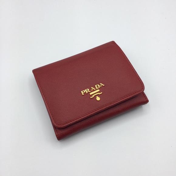 256eb74e52 Prada Saffiano Small Wallet